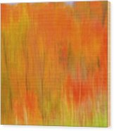 Fall Foliage Abstract Wood Print
