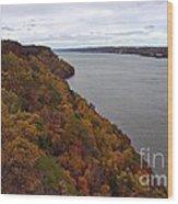 Fall Foliage On The New Jersey Palisades  Wood Print