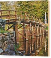 Fall Foliage Over The North Bridge Wood Print