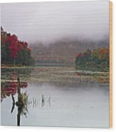 Fall Foliage Reflections In Northern Vermont Wood Print