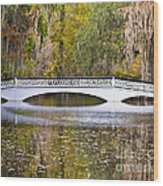 Fall Footbridge Wood Print