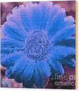 Fall For Me Purple Blue Wood Print