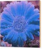 Fall For Me Purple Blue Wood Print