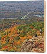 Fall From Castle Craig Wood Print by Stephen Melcher