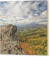 Fall From The Blowing Rock Wood Print