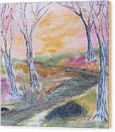 Fall Glow Wood Print
