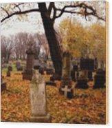 Fall Graveyard  Wood Print
