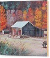 Fall Grazer Wood Print