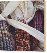 Fall Harvest Corn Wood Print