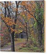 Fall Homestead Wood Print