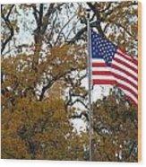 Fall In America Wood Print