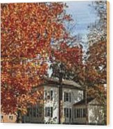 Fall In Kinderhook Wood Print