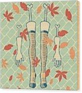 Fall In Love Wood Print