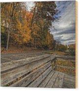Fall In Mill Creek Park Wood Print