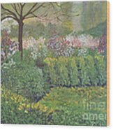 Fall In Monet's Garden Wood Print