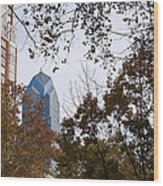 Fall In Philly Wood Print