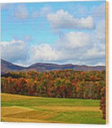 Fall In Rocky Mount Wood Print