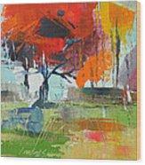 Fall In Sharonwood Park 2 Wood Print