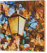 Fall In The Air Wood Print