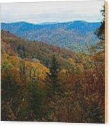 Fall In The Blue Ridge Mountains Wood Print