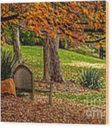 Fall In The Gardens Wood Print