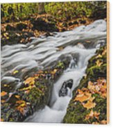 Fall In The Poconos Wood Print