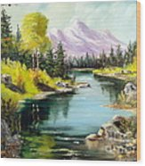 Fall In The Rockies Wood Print