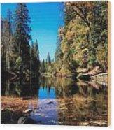 Fall In Yosemite Wood Print