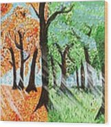 Fall Into Spring Wood Print