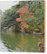 Fall Landscape Around The Lake 2 Wood Print