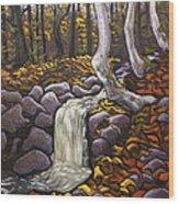 Fall Leaving Wood Print