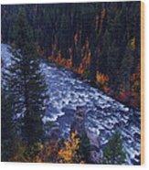 Lower Mesa Falls Wood Print