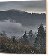 Fall Low Clouds And Fog Wood Print