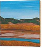 Fall Marsh Wood Print