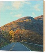 Fall Mountain Road Wood Print by Candice Trimble
