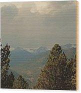 Fall Mountain View Wood Print