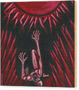 Fall Of Icarus Wood Print