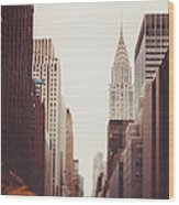 Fall On 42nd Street Wood Print