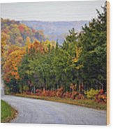 Fall On Fox Hollow Road Wood Print