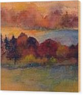 Fall On Lake Champlain Wood Print