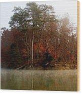 Fall On Melton Hill Lake Wood Print