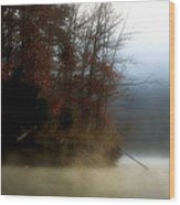 Fall On Melton Hill Lake II Wood Print