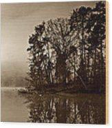 Fall On Melton Hill Lake V Wood Print