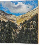 Fall On Red Mountain Pass Wood Print
