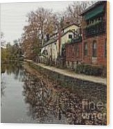 Fall On The Canal Wood Print