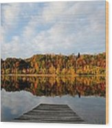 Fall On The Lake Wood Print