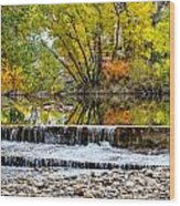 Fall On The Poudre Wood Print by Baywest Imaging
