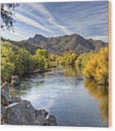 Fall On The Salt River  Wood Print