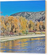 Fall On The Snake River Wood Print