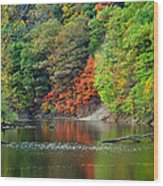 Fall Painting Wood Print by Frozen in Time Fine Art Photography